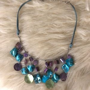 Blue glass necklace